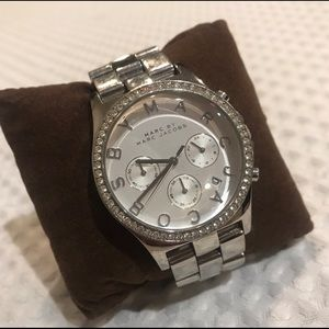 Marc Jacobs Silver watch w/ Crystals